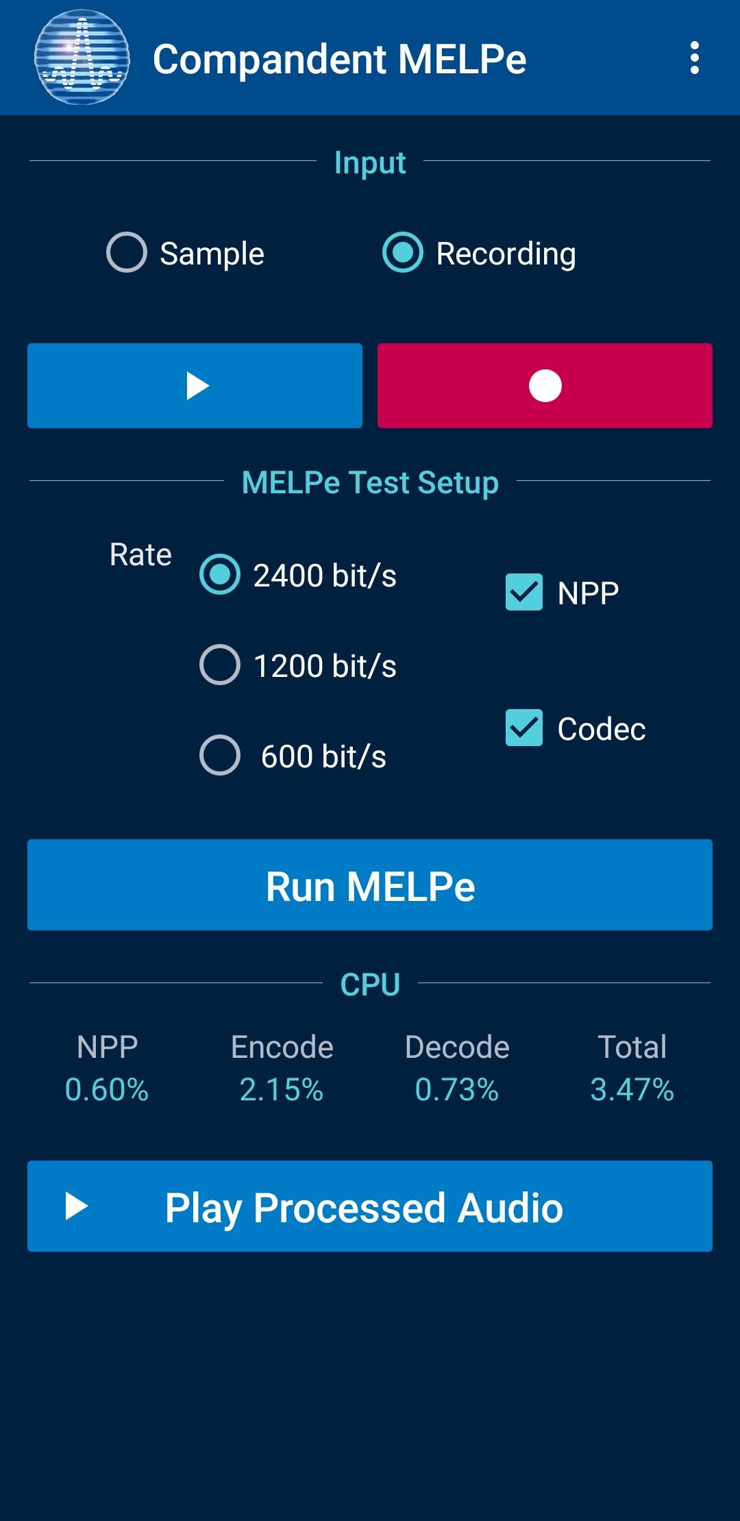 Compandent MELPeApp_5
